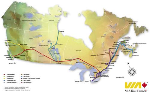 Canada Train Map